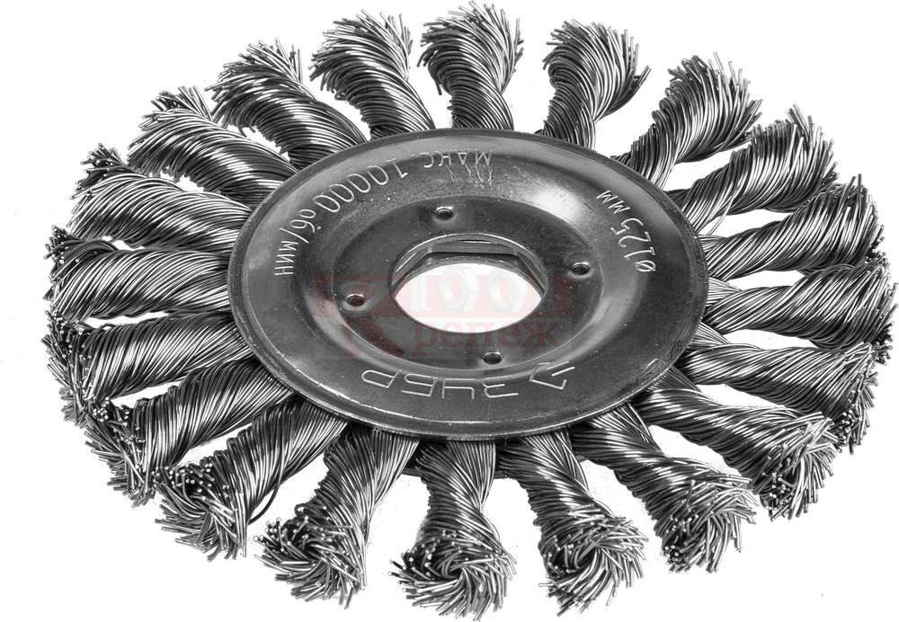 Корщетка-колесо витая 125х22 мм для УШМ
